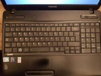 Toshiba Satellite C650-160 laptop with Toshiba bag