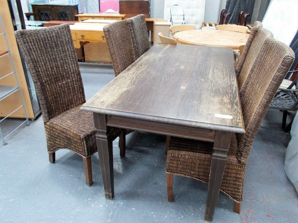 Dining Table and 6 Wicker Chairs...31262B