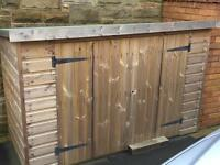 16mm Tanalised Timber Bike shed with Bi-Folding Doors