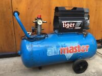 Airmaster Tiger Turbo Compressor 8/60 for parts only 50 LTR