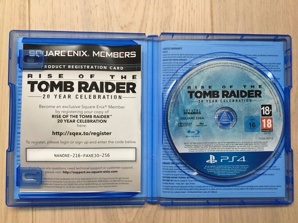 Rise Of The Tomb Raider 20 Year Celebration for PS4 [Like New] | in Welwyn  Garden City, Hertfordshire | Gumtree