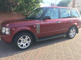 Immaculate mint Range Rover 4.4 L V8 petrol HSE auto Burgandy FSH 2003 Facelift 68 000 miles, £9450