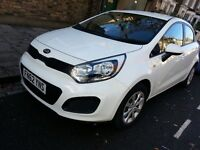 2012 (62 reg.) Kia Rio 1 manual 1.25 White. 5 door Hatchback, Full Service History