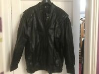Ladies Black Leather Jacket