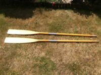 1 Pair Avon Rowing Oar (wood) 165 cm long, each Oar will split into 2 *Used