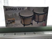 "Unused Natural Hide Child Friendly Bongos (2 bongos - 6"" and 7"" with tuning key)"