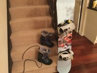 Burton Snowboard Unwanted Christmas Gift : Perfect packageboots bag included