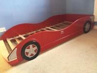 Child's wooden Ferrari bed