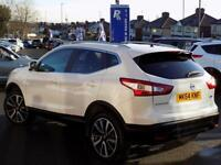 NISSAN QASHQAI 1.5 DCi TEKNA 5dr * Pan Roof & Leather * (white) 2014