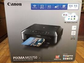 Canon PIXMA MG5750 Printer: Wireless Print Copy Scan Cloud Link