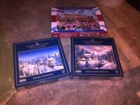Assorted Jigsaw Puzzles + 1 Puzzle Board For Sale