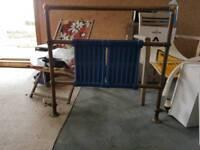Vintage towel rail radiator