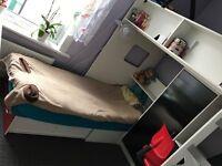 RUTLAND HIGH SLEEPER WITH FUTON BED