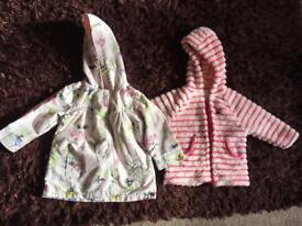 9-12months George rain jacket and next fleece