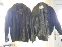 2x men's leather jackets XL