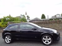 12 MONTH WARRANTY! (2008) VAUXHALL Astra SRi+ CDTi 150 BHP 3 DR Black - Low Mileage - FSH - 8 Stamps