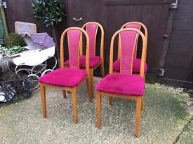 Four matching kitchen dining chairs bargain