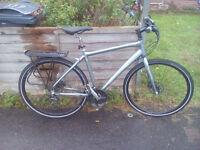 "Trek flat bar hybrid bike. 20"" frame. 24 gears. Disc brakes. Excellent condition."