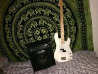 Chord bass guitar and fender amp