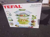 [AS GOOD AS NEW, BOXED] TEFAL STEAMER IN EXCELLENT CONDITION