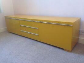 Ikea TV Cabinet - Mustard (TV bench BESTÅ BURS)