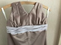 30-32 inch CHAMPAGNE COFFEE BEIGE PROM DRESS BRIDESMAID FOREVER YOURS INTERNATIONAL