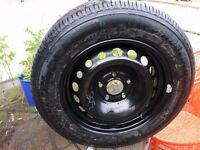 RENAULT 15 INS SPARE WHEEL WITH ALMOST NEW TYRE.