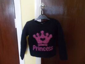 NAVY PRINCESS WOOLY JUMPER 2-3 YEARS