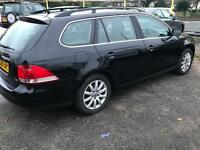 2009 09reg Volkswagen Golf 1.9 SE Tdi Estate Black Cheapest around