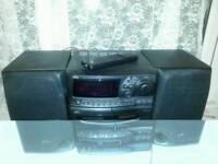 Jvc mini hifi sound system (with remote control)