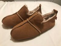 brand new Tan Suede Slippers @size 6