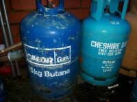 Empty Calor/flogas/Total Gas butane bottles