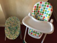 Highchair and bouncer combo