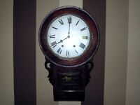 VINTAGE AMERICAN DROP DIAL WALL CLOCK – RESTORED & WORKING