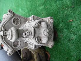concrete stone Elvin train and carriage garden ornament