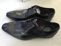 Brand New Clarks Men Shoes size 10. Bampton Limit, Black High Shine Leather. RRP £59
