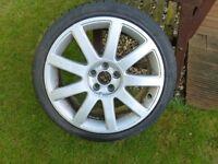 """Audi TT / A2 Sport 17"""" 9-spoke Wheel inc Nankang 205/40 tyre"""
