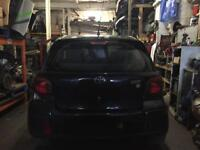2004 Toyota Yaris Tsport boot lid in black