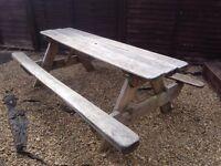 7ft garden picnic bench
