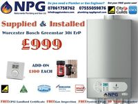 *SUPPLY & INSTALL* Worcester Bosch Greenstar 30i New ErP Combi £999 (RRP£4K) SUMMER 2017 SALE