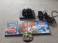 Slimline ps2 with 5 games