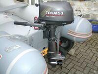 TOHATSU 5HP 4-STROKE SHORT SHAFT OUTBOARD