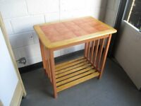 TALL TWO TIER TILE TOP KITCHEN TABLE KITCHEN ISLAND SIDE TABLE