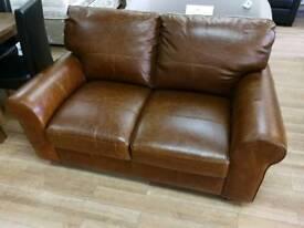 Salisbury tan 2 seater top grade leather sofa