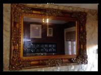 French Rococo Style Large Mirror