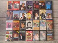 Job Lot 28x 1950's/1960's/1970's Cassette Tapes-Tom Jones,Dusty Springfield ,Tony Bennett etc