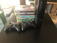 XBOX360-last model 0RIGINAL BOX + games
