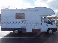 FINANCE AVAILABLE!! Stunning 6 berth Ci Motorhome witt only 28k from new,Bike rack, Tv,