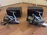 Pair of TF Gear V10 Distance 8000 Reels