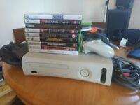Xbox 360, Xbox controller and 9 games